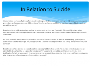 In Relation to Suicide
