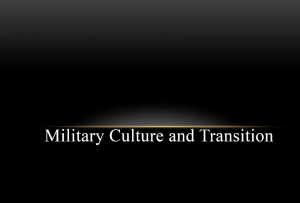 Military Culture and Transition
