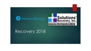 Recovery 2018