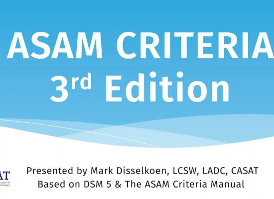 ASAM Criteria 3rd Edition