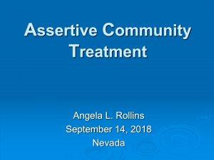 Assertive Community Treatment