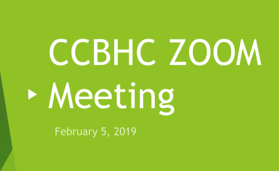 CCBHC Zoom Meeting