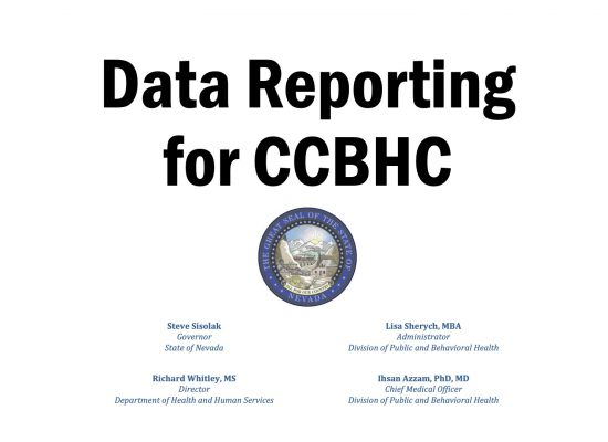 Data Reporting for CCBHC