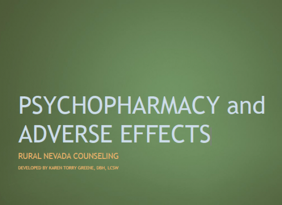 Psychopharmacy and Adverse Effects