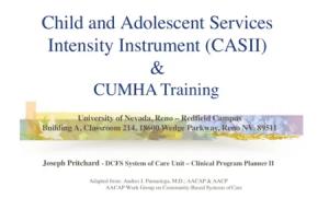 CASII & CUMHA Training