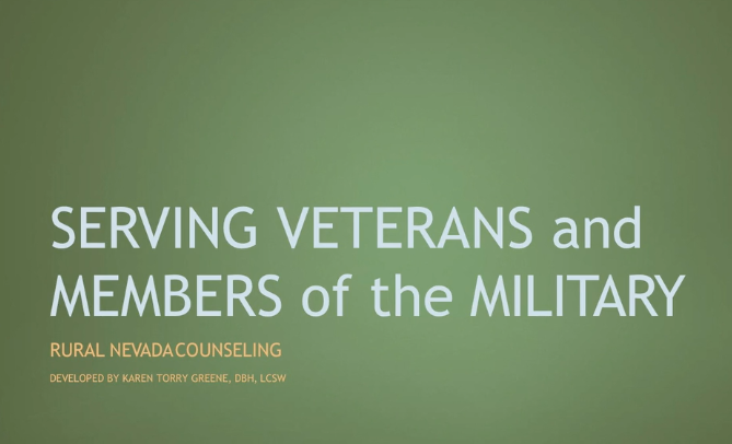 Serving Veterans and Members of the Military