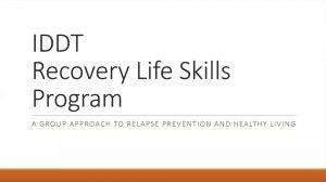 IDDT Recovery Life Skills Program